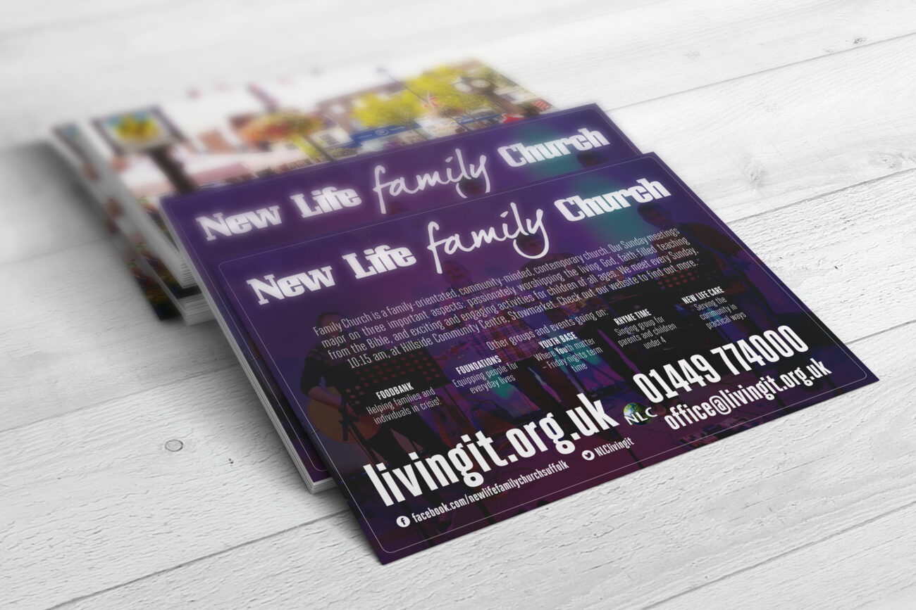 Postcards for New Life Church, Stowmarket