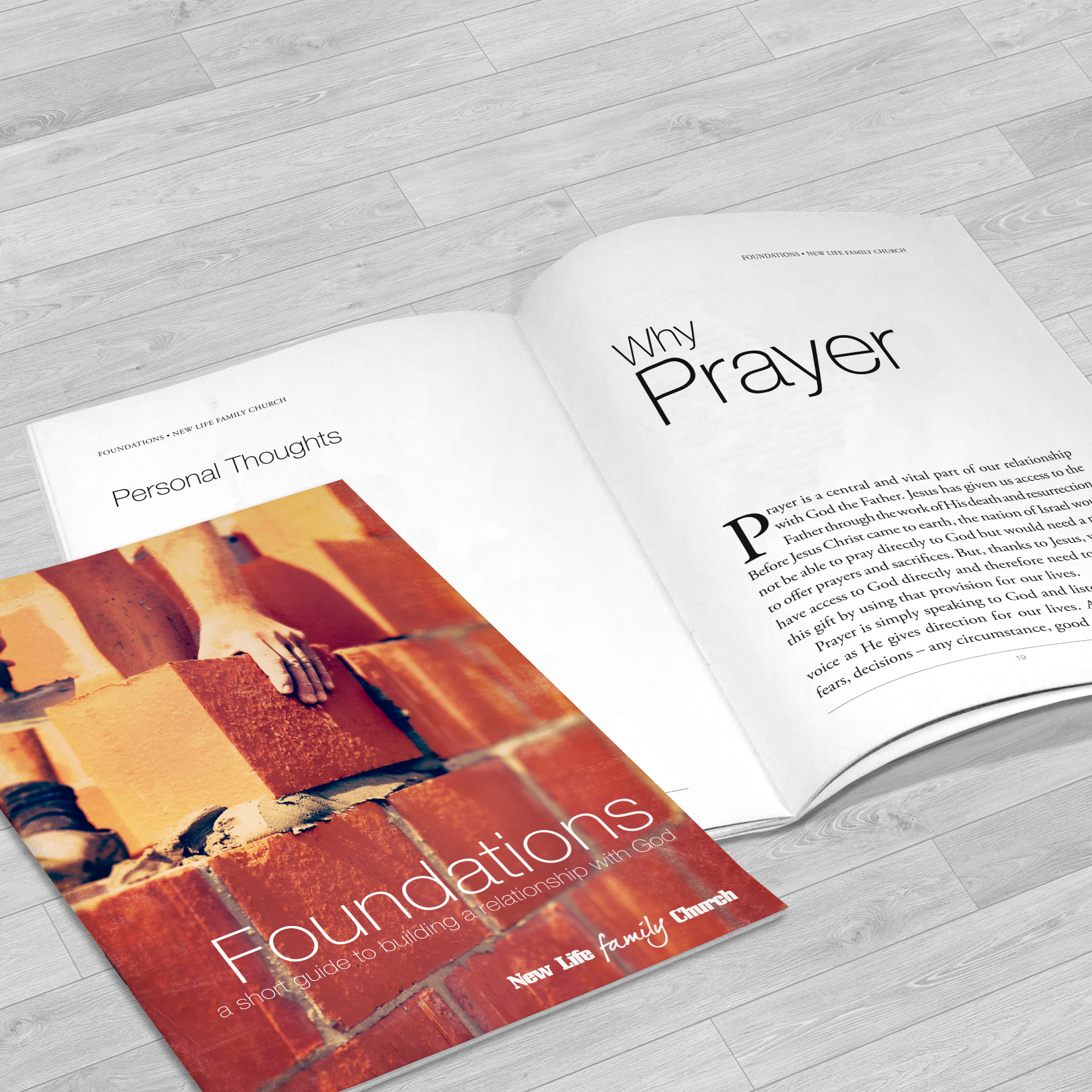 Booklet for New Life Church, Stowmarket